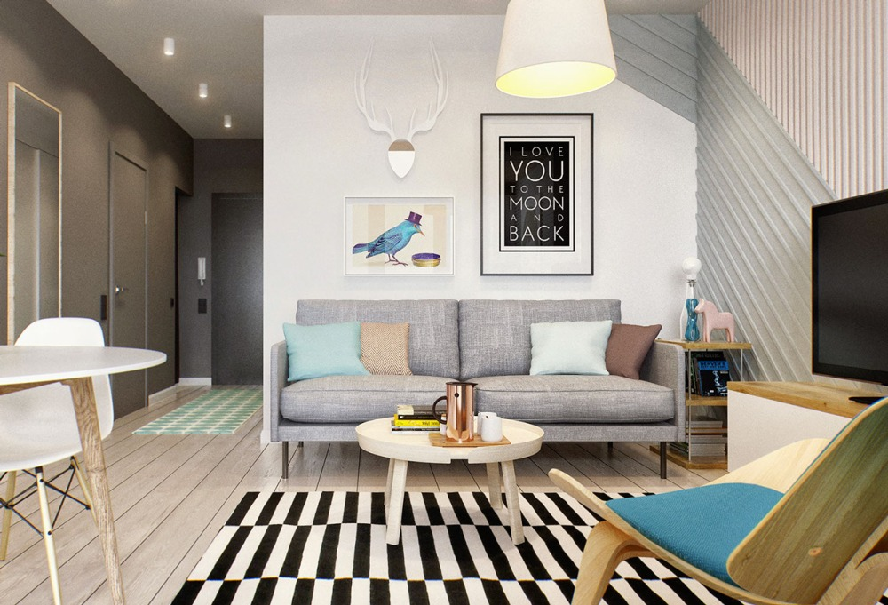 Дизайн інтер'єру однокімнатної квартири в хрущовці