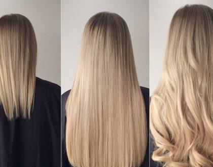 Наращивание волос разными методами