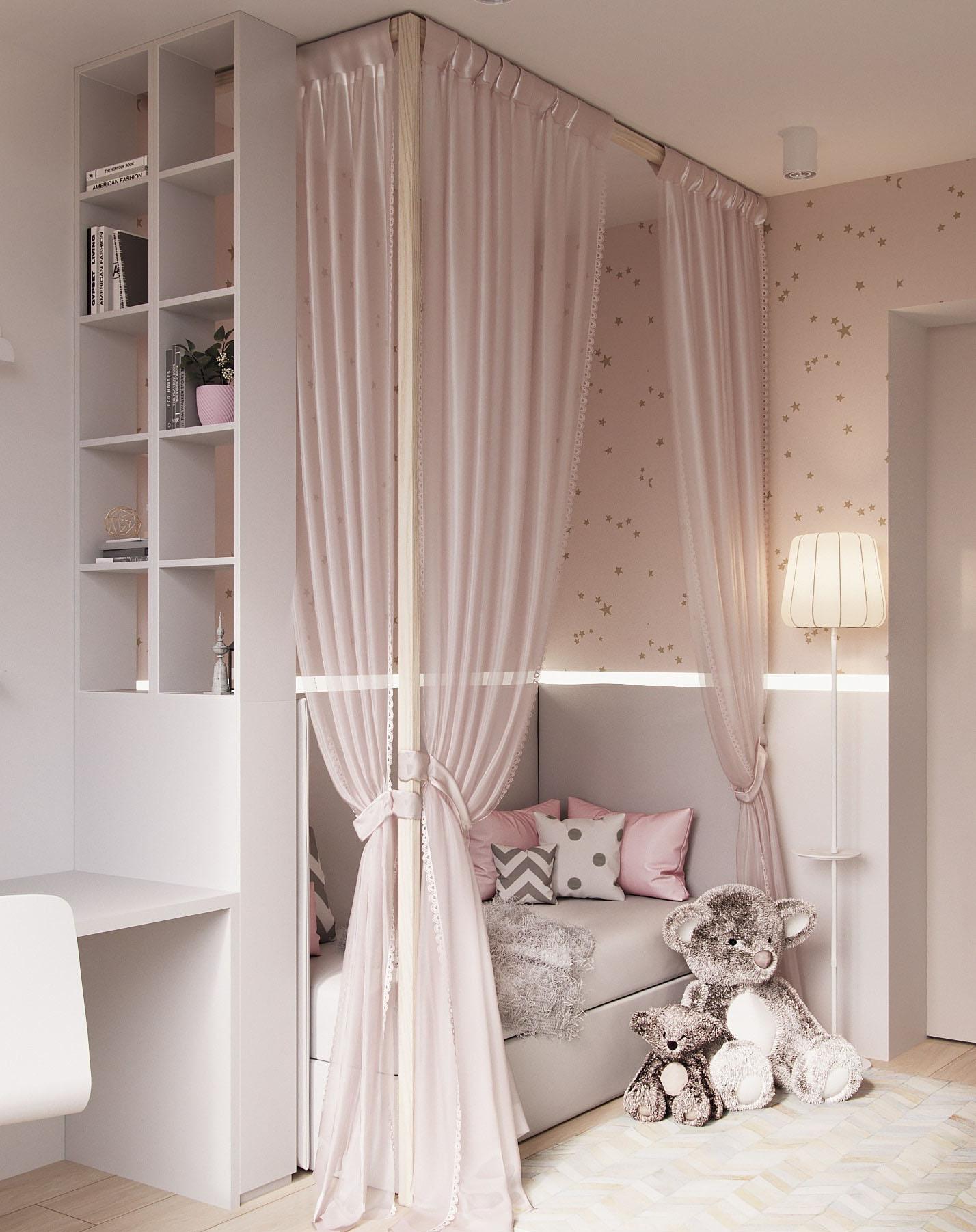 Детская комната для девочки - оформляем вместе