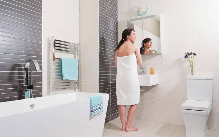 полотенцесушитель фото в ванной